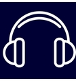 Headphones or music icon of set white outlines vector image