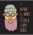 hero dad three vector image