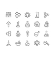 Line Chemical Icons vector image