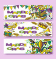 mardi gras or shrove tuesday cards vector image