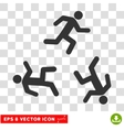 Running Men Round Eps Icon vector image