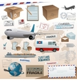 Distribution and shipping elements vector image vector image