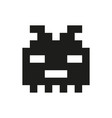 cheerful and kind pixel monster monochrome vector image