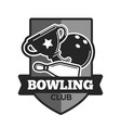 bowling club icon template vector image vector image