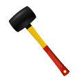 Rubber Mallet isolated on white background vector image vector image