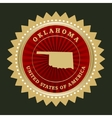 Star label Oklahoma vector image