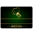 Green decorative restaurant man card vector image