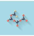 Flat web internet icon Molecule chemical atomic vector image