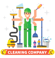 Cleaning worker vector image
