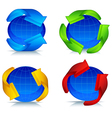 planet and arrow logo vector image vector image