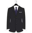 Suit on hanger vector image