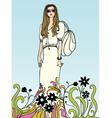 flower power girl vector image vector image