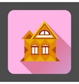 Cool detailed house icon flat style vector image