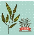 hello new year design vector image