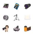 Photo shooting icons set cartoon style vector image