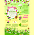 spring sale of flowers poster template design vector image