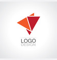 triangle shape abstract logo vector image