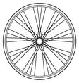 bike wheel isolated on white background vector image vector image