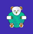 flat shading style icon teddy bear vector image vector image