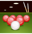 billiard table with balls vector image vector image
