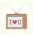 I love you retro television vector image