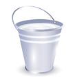 bucket with milk vector image