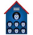 owl school vector image vector image