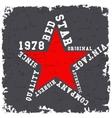 Red star vintage vector image