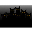 group of cats in the dark vector image