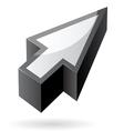 Isometric icon of cursor vector image