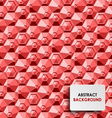 Abstract red hexagon background template vector image