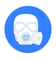Army gas mask icon in black style isolated on vector image