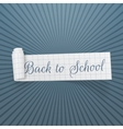 Back to School curved festive Banner vector image