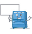 bring board mailbox character cartoon style vector image