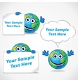 Cartoon World Globe with Banner and Sign vector image