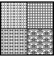 Collection Of Damask Patterns vector image