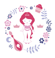 Design with little cute east princess vector image