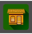 Gingerbread house icon flat style vector image
