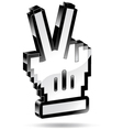 Hand pointer victory vector image