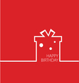 happy birthday in red vector image