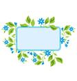 light blue frame with flora vector image