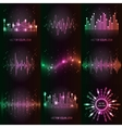 sound waves set vector image