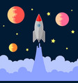 space rocket fly vector image