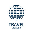 travel earth logo vector image