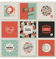Restaurant menu designs - retro-styled collection vector image vector image