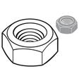 Metal nut vector image