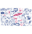 hand drawn modern devices collection vector image
