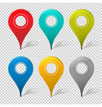 set of mapping pins icon vector image
