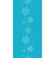 Blue lace snowflakes textile vertical border vector image
