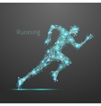Polygonal running man vector image